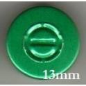 13mm Center Tear Vial Seals, Green, Pack of 100