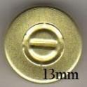 13mm Center Tear Vial Seals, Gold, Pack of 100