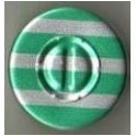 20mm Center Tear Vial Seals, Green Stripe, Pack of 100