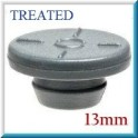 13mm Vial Stopper, Treated Round Bottom, Bag of 1000