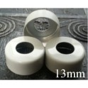 13mm Open Hole Aluminum Vial Seal Rings, Bag 1000, White