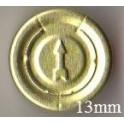 13mm Full Tear Off Vial Seals, Gold, Pk 100