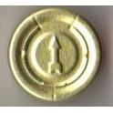 20mm Full Tear Off Vial Seals, Gold, Pk 100