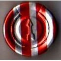 20mm Full Tear Off Vial Seals, Red Stripe, Pk 100