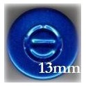 13mm Center Tear Vial Seals, Sapphire Blue, Pack of 100