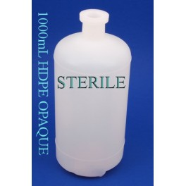 1000ml STERILE Plastic Serum Bottle Vials, Opaque, case of 60