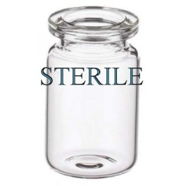 6mL (5ml shorty) Clear Sterile Open Vials, 22x40mm, Depyrogenated, Ream of 219 pieces