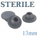 13mm Round Bottom Stopper, Irradiated, Bag of 1,000