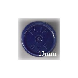 13mm Flip Off Vial Seals, Dark Blue, Bag of 1000