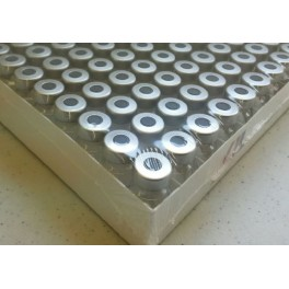 2mL Sterile Serum Vials, Ream of 100, Silver Seals