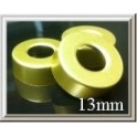 13mm Open Hole Aluminum Vial Seal Rings, Bag 1000, Gold