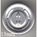 13mm Full Tear Off Vial Seals, Natural, Pk 100