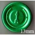 13mm Full Tear Off Vial Seals, Green, Pk 100