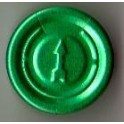 20mm Full Tear Off Vial Seals, Green, Pk 100