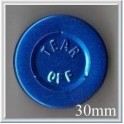 30mm Center Tear Aluminum Vial Seals, Blue, Pk of 250