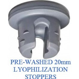 Ready to Sterilize 20mm 2-Leg Lyophilization Stoppers, Bag of 2500