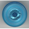 20mm Plain Vial Flip Caps, Clear Blue, Bag of 1000